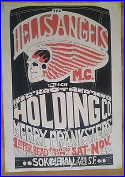 Hells Angels Big Brother & The Holding Company, Merry Pranksters Gut Poster 1966