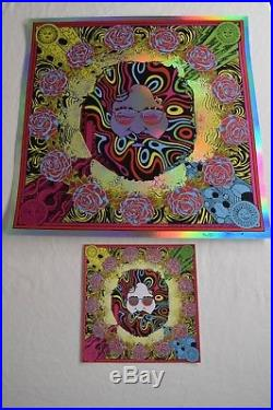 JERRY GARCIA 2018 RAINBOW FOIL Variant Bicycle Day GRATEFUL DEAD #43/75 Poster
