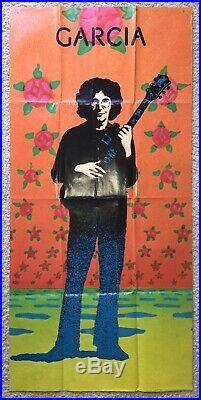JERRY GARCIA Compliments 1974 Original Promo Display Poster GRATEFUL DEAD