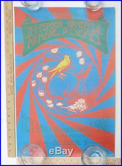 Jefferson Airplane Grateful Dead Hot Tuna NRPS Concert Poster Winterland 1970