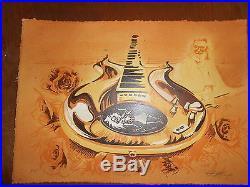 Jerry GARCIA Grateful Dead AJ Masthay Rosebud Guitar Rock Art Print Poster LE 35