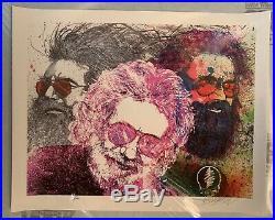 Jerry Garcia Art Poster Jerry Montage Grateful Dead RARE Joey Feldman Print
