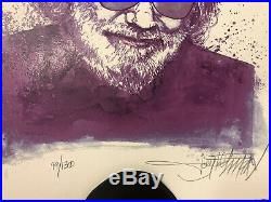 Jerry Garcia Art Poster Purple Jerry Grateful Dead RARE Joey Feldman Print