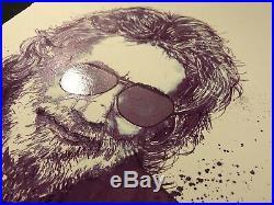 Jerry Garcia Art Poster Purple Jerry S/N Grateful Dead RARE Joey Feldman