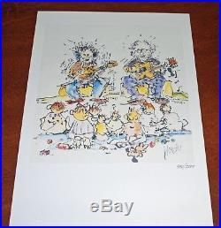 Jerry Garcia Art Print Not 4 For Kids Only Grateful Dead Poster #980/1000 Rare