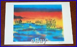 Jerry Garcia Art Print Wetlands I Lithograph Poster #/1000 Grateful Dead