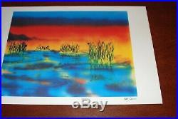 Jerry Garcia Art Print Wetlands I Lithograph Poster #945/1000 Grateful Dead