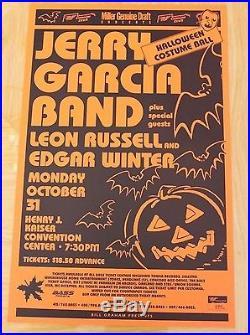 Jerry Garcia Band Halloween Costume Ball 1988 Concert Poster grateful dead