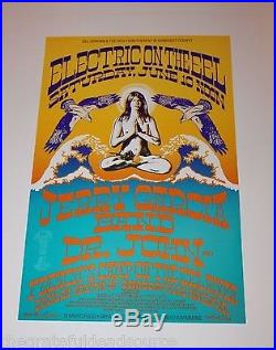 Jerry Garcia Band on the Eel River 1989 Concert Poster Rick Griffin art on there
