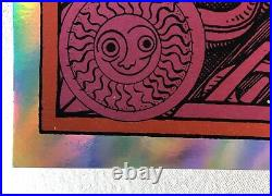 Jerry Garcia Bicycle Day 2018 Rainbow Foil Grateful Dead Variant Poster # 43/75