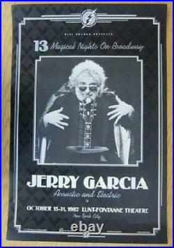 Jerry Garcia Broadway Nyc 1987 Concert Poster Original 1st Print Grateful Dead