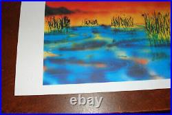 Jerry Garcia Fine Art Print Wetlands I Lithograph Poster #/1000 Grateful Dead