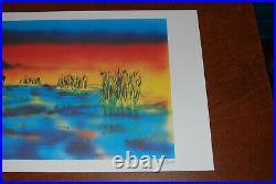 Jerry Garcia Fine Art Print Wetlands I Lithograph Poster #735/1000 Grateful Dead
