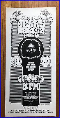 Jerry Garcia/Grateful Dead/Concert Poster/c. 1977/Psychedelic Poster/New Paltz, NY