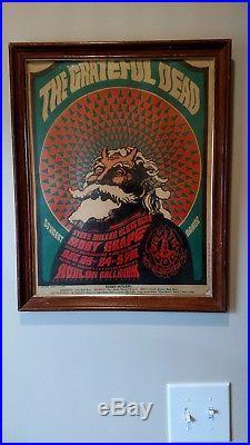 Jerry Garcia/Grateful Dead Family Dog Christmas 1966 Concert Poster Framed