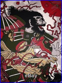 Jerry Garcia Grateful Dead Samurai Jerry Poster Art Print Limited Kimura 1st Ed