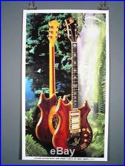 Jerry Garcia Grateful Dead Tiger Guitar RARE poster by Irwin, Just Beautiful
