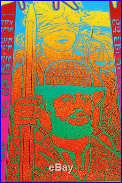Jerry Garcia John Kahn Original Concert Poster Rick Griffin Wes Wilson &the gang