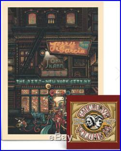 Jerry Garcia John Kahn THE RITZ Luke Martin SIGNED Poster/Print CD withBONUS DISC