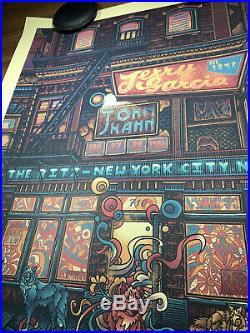 Jerry Garcia John Kahn The Ritz Art Print Poster Luke Martin X/500 Vol 14 1986