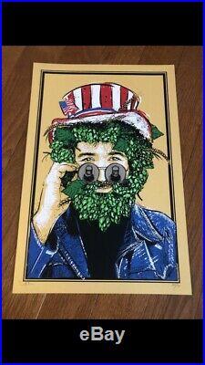 Jerry Garcia Jt Lucchesi Captain Hops Print Screens N Suds Grateful Dead Poster
