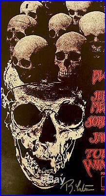 Jerry Garcia Legal Aid Benefit Poster Hells Angels Grateful Dead Signed 1973