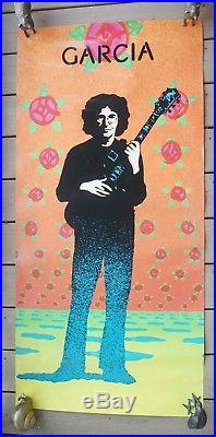 Jerry Garcia Original Victor Moscoso Compliments Promo Poster 1974 23&1/8x47 1/2