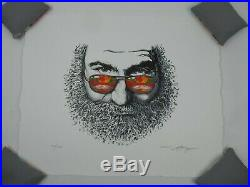 Jerry Garcia Palm Sunday Poster AJ Masthay 2019 Signed Numbered Grateful Dead