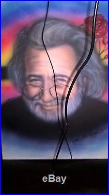 Jerry Garcia Portrait ORIGINAL Painting On Canvas Signed Grateful Dead GD50