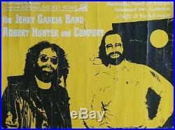 Jerry Garcia & Robert Hunter Rare 1978 Poster Sebastopol Vets Grateful