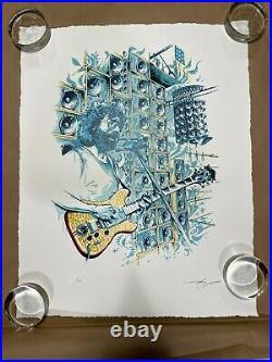 Jerry Garcia STELLA BLUE Limited Edition Signed Print x/500 by AJ Masthay INHAND