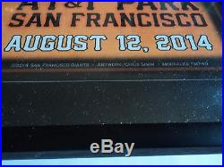 Jerry Garcia San Francisco Giants Poster SGA 8/12/14 Chris Shaw SIGNED Framed