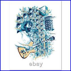 Jerry Garcia Stella Blue Limited Edition Giclee Art Print by AJ Masthay 12x16