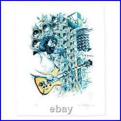 Jerry Garcia Stella Blue Limited Edition Signed Print #/500 by AJ Masthay