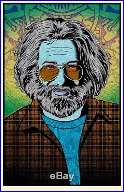 Jerry Garcia Tangled Up In Blue Chuck Sperry Poster Art Print Grateful Dead