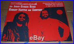 Jerry Garcia band March 22, 1978 concert poster
