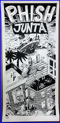 Jim Pollock JUNTA poster Mint Phish ART RARE NOT GRATEFUL DEAD EMEK OBEY