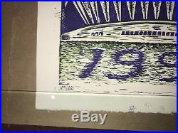 Jim Pollock Phish 1.0 poster-Hampton Coliseum Dec. 1999 #414/600 Grateful Dead
