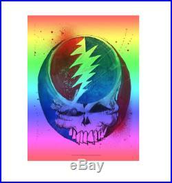 Joey Feldman Grateful Dead Heady Skull Rainbow Foil Variant Mondo Poster