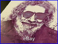 Joey Feldman Purple Jerry Jerry Garcia Grateful Dead LE Art Print Sin/Num