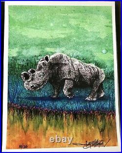 Joey Feldman Rhino Sudan Poster #ED/130 Greensky NOT EMEK PHISH GRATEFUL DEAD
