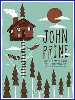 John Prine 2018 Ambient Ink poster Milwaukee, MI