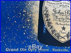 John Prine Grand Ole Opry Nashville Tn New Years Eve 2019 Screen Print Poster Se