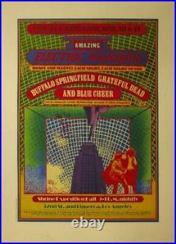 John Van Hamersveld Grateful Dead Buffalo Springfield Rock Poster Signed