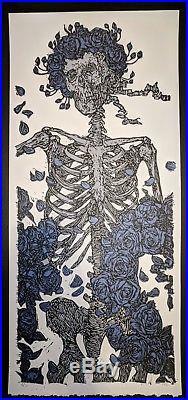 Jon Rose Grateful Dead Print Rubaiyat Quatrain Ice Blue Roses Variant Mint