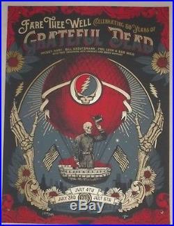 Justin Helton Grateful Dead GD50 Art Poster Print Chicago Soldier Field Fare