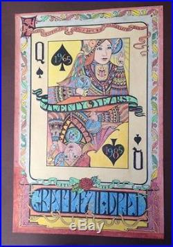 Large, Original ARTWORK for 1965-1985 GRATEFUL DEAD Poster QUEEN CARD Colorful