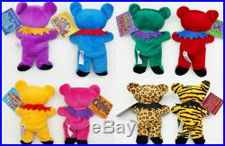 Lot of 16 Grateful Dead Bean Bear Collectible Plush & Special Edition Poster