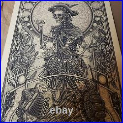 Luke Martin Grateful Dead 2 Jack Straw Print GD2 KEYLINE VARIANT #/100 Jerry