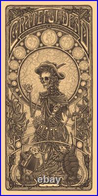 Luke Martin Grateful Dead 2 Jack Straw poster print Keyline art variant LE 100